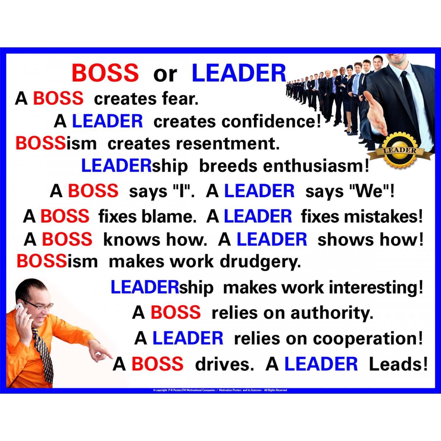 Boss or Leader?
