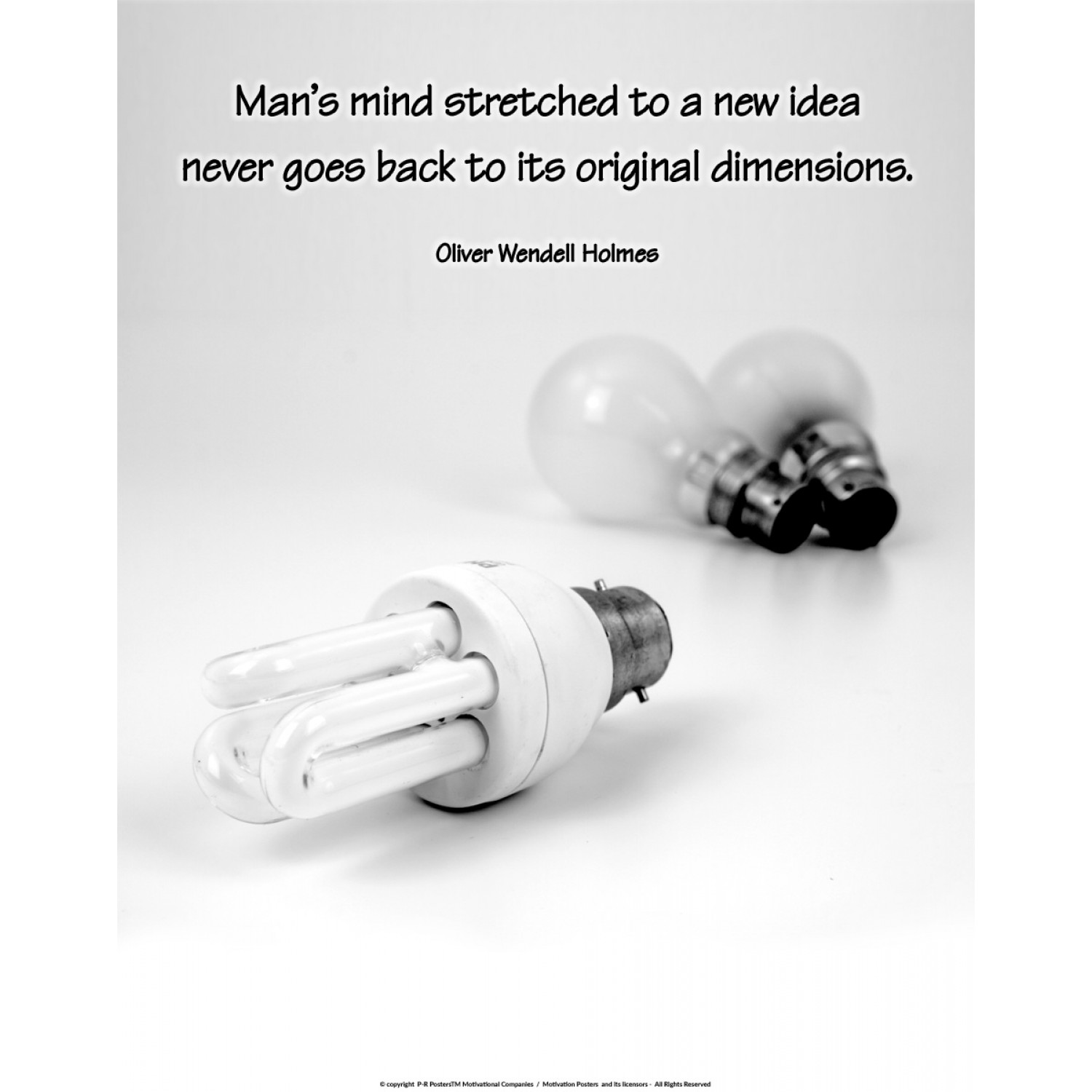 Man's mind stretched to a new idea...