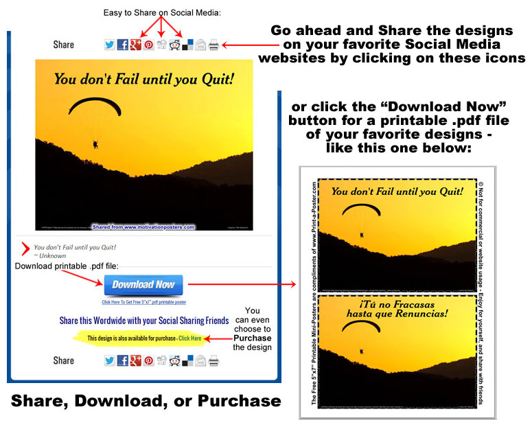 Share, Download, or Purchase any design